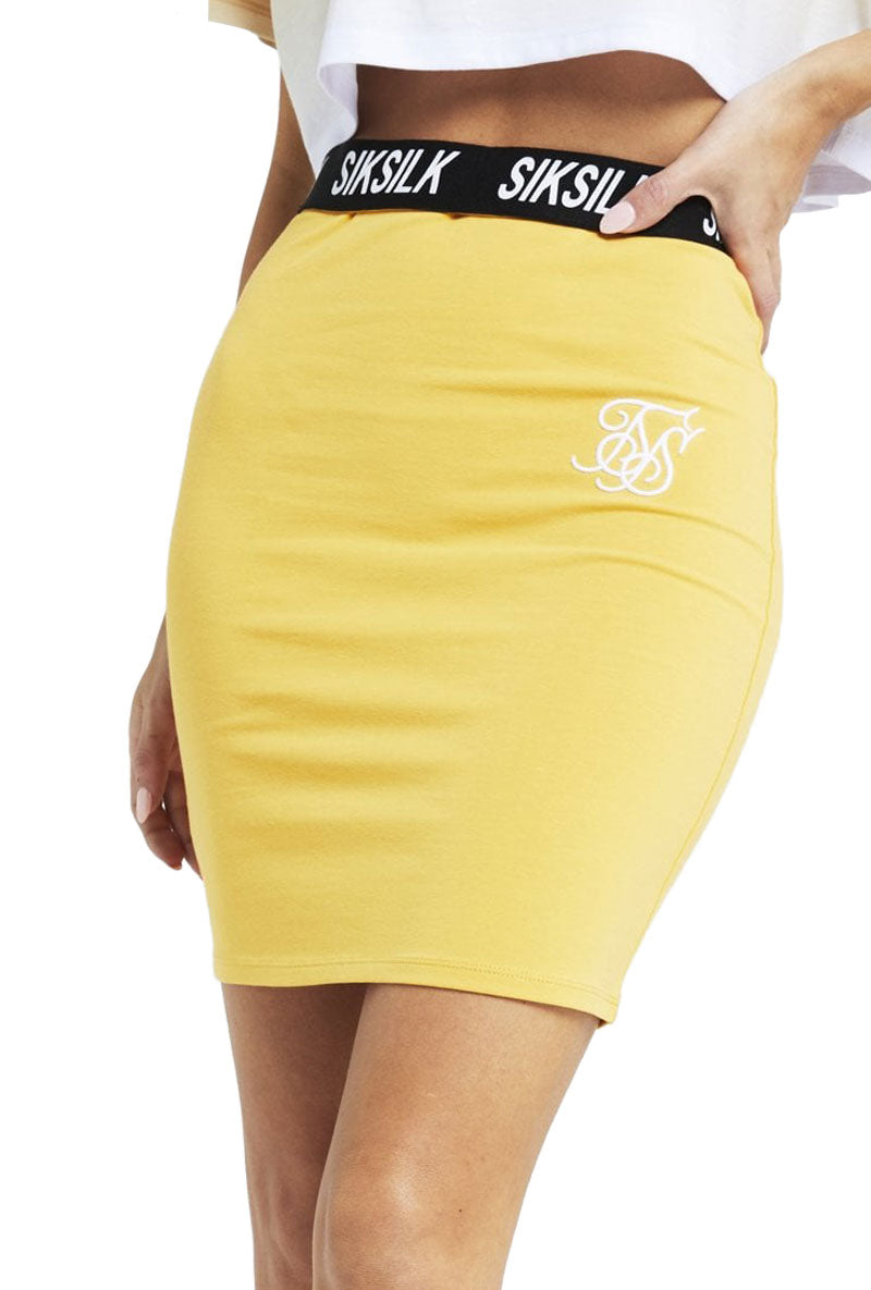 SIKSILK ELASTIC WAIST TUBE SKIRT