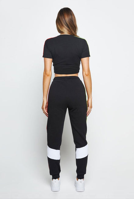 SIKSILK SPECTRUM TAPE CROP TSHIRT