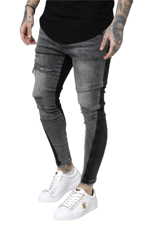 TWISTED HEM DENIM
