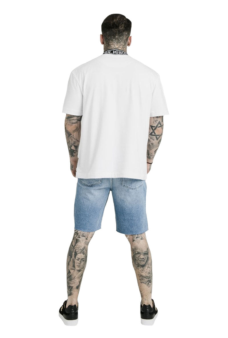 SIKSILK DANI ALVES BRANDED HIGH COLLAR TEE