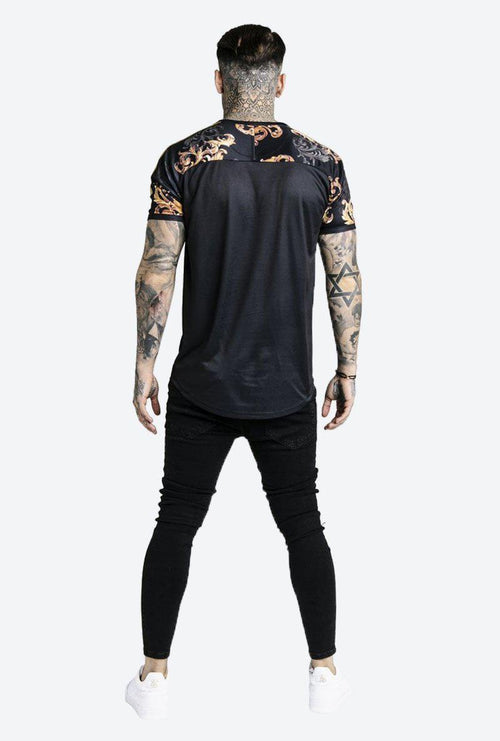 DANI ALVES B CURVED HEM GYM TEE-London Clothing Company ®