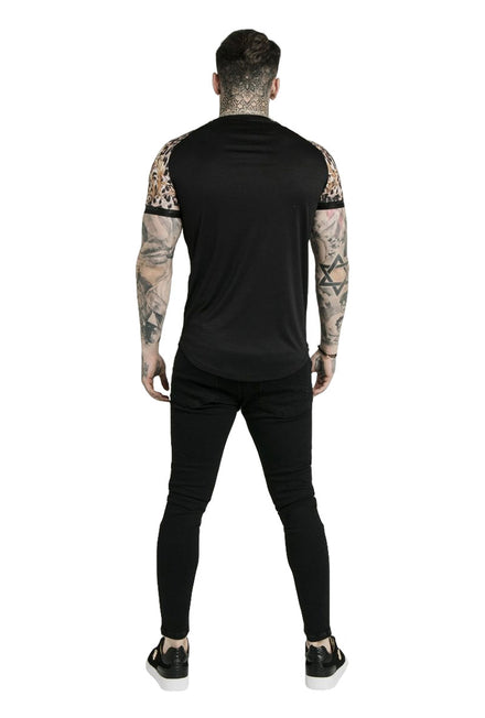 SIKSILK DANI ALVES RAGLAN CURVED HEM TECH TEE