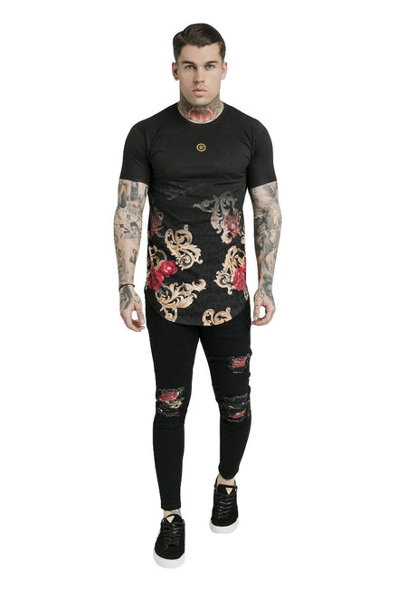 SIKSILK DANI ALVES CURVED HEM TEE