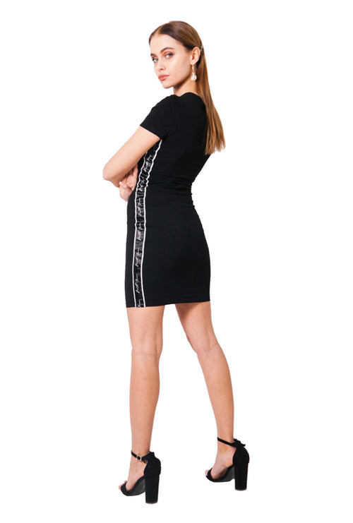 LOGO TAPING BODYCON DRESS