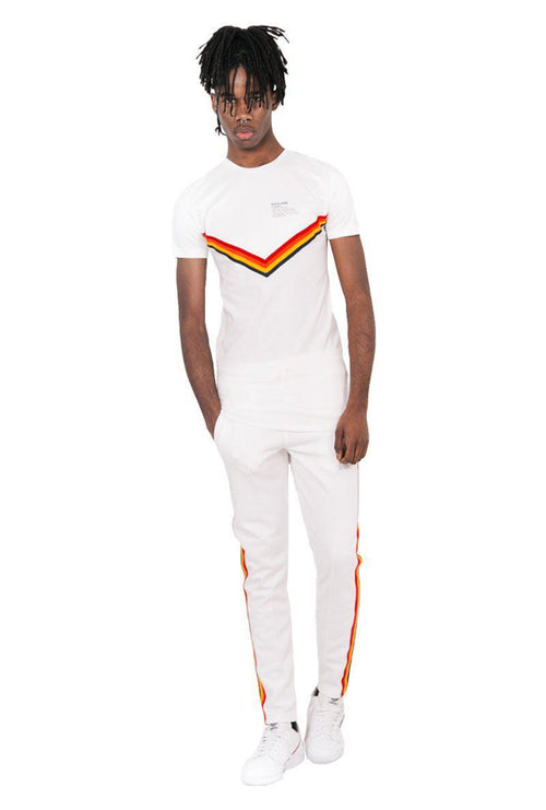 FOUR COLOUR TAPING JOG PANTS-London Clothing Company ®