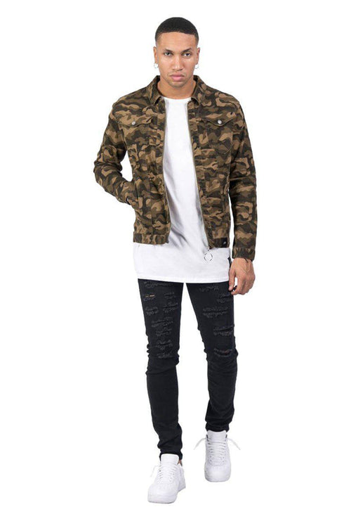 DENIM CAMO JACKET-London Clothing Company ®