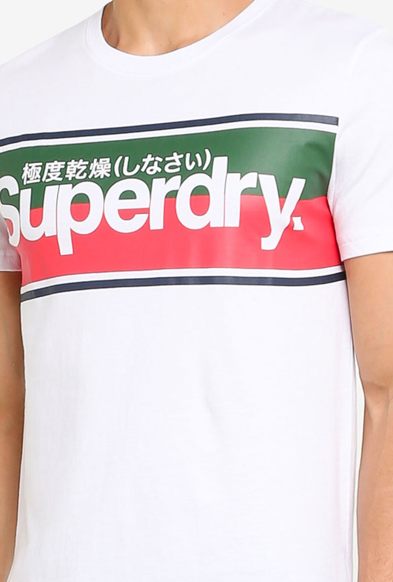 SUPERDRY CORE LOGO II STRIPE TEE