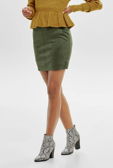 ONLY JULIE FAUX SUEDE SKIRT