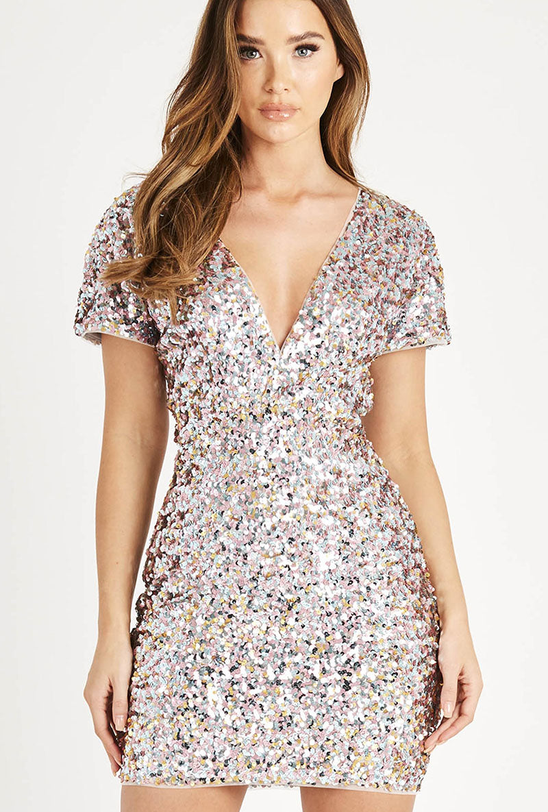 TFNC HANISA SEQUIN DRESS
