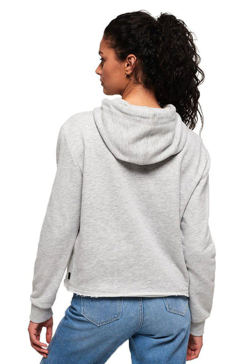 BONDED SATIN COLLEGE CROP HOOD-London Clothing Company ®