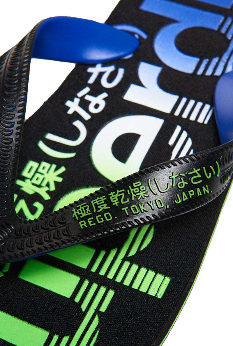 SUPERDRY SCUBA FADED LOGO FLIP FLOP