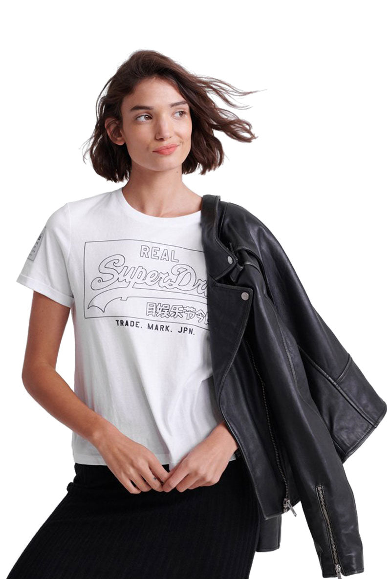 SUPERDRY VINTAGE LOGO OUTLINE BOXY TEE