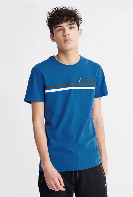 SUPERDRY CORE LOGO SPORT STRIPE TEE