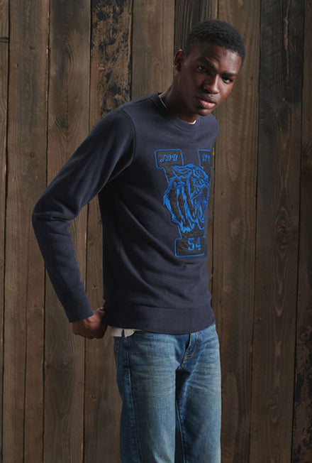 SUPERDRY VINTAGE APPLIQUE CREW