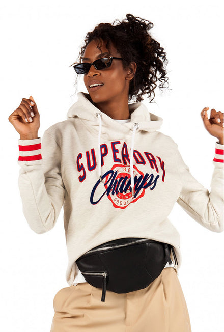 SUPERDRY REAL CHAMPS COLLEGE CROP HOOD