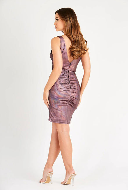 SKIRT & STILETTO LORENA DRESS WITH FRONT PANEL