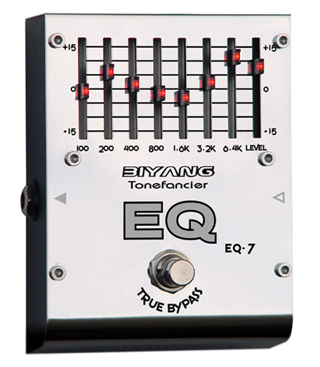 Biyang EQ-7 Bands Graphic Equalizer Electric Guitar Pedal - The Guitar Yard