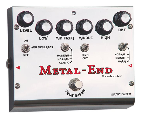 Biyang Metal End King Distortion Electric Guitar Pedal - The Guitar Yard