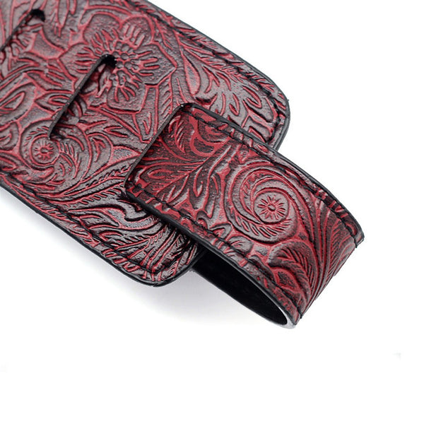 PU Leather Embossed Guitar Strap - The Guitar Yard