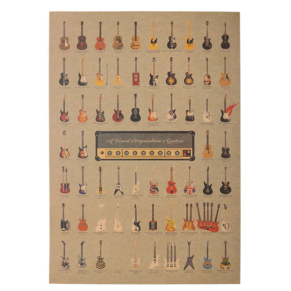 Vintage Guitar Poster (Wall Sticker) - The Guitar Yard