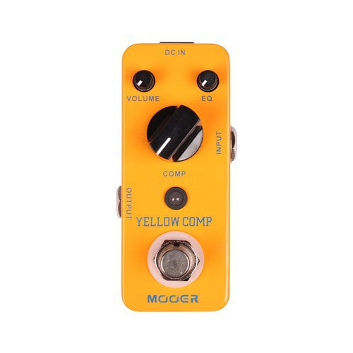 Mooer Yellow Compressor Guitar Effects Pedal - The Guitar Yard