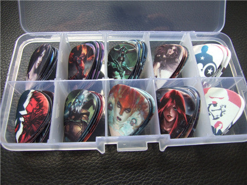 Rock bands / Cartoons Guitar Picks (50 pcs) Select Your Own Collection - The Guitar Yard