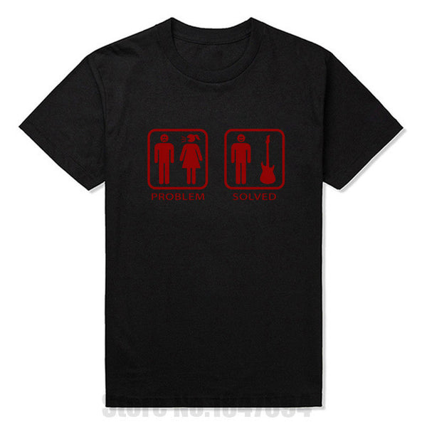 Problem Solved Guitar Men's Tee - The Guitar Yard