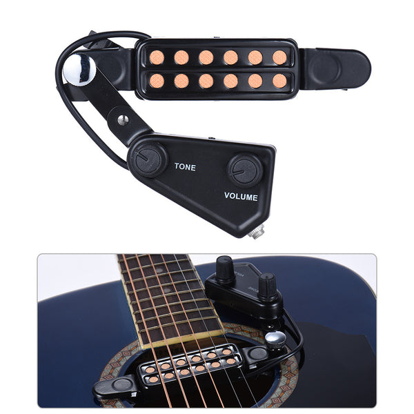 Acoustic Guitar Magnetic Pickup with Tone + Volume Controller - The Guitar Yard