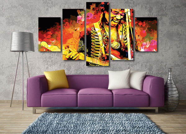 Jimi Hendrix Wall Art (5pcs)
