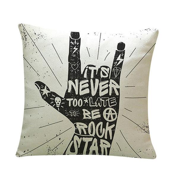 Positive Vibes Rock Pillow Case - The Guitar Yard