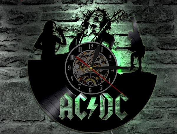 ACDC Vinyl Record Wall Clock - The Guitar Yard