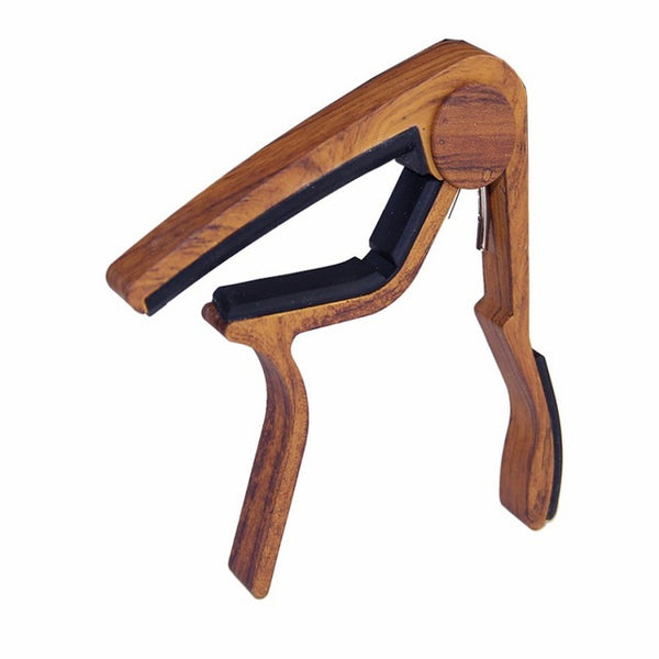 Aluminium Alloy Wooden Design Guitar Capo for Acoustic and Electric Guitars - The Guitar Yard