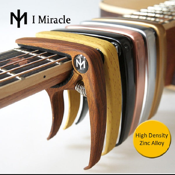 I Miracle Guitar Capo with Bridge Pin Remover for Acoustic and Electric Guitars - The Guitar Yard