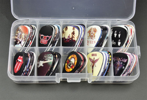 100pcs Medium Guitar Picks - Rock Bands - The Guitar Yard