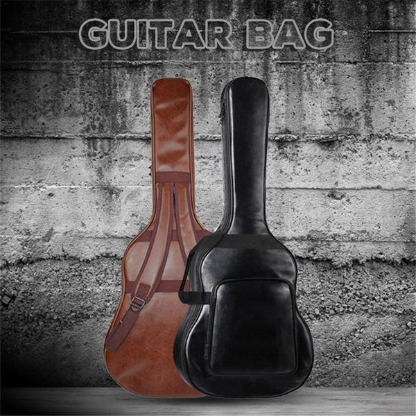 On The Road Waterproof PU Leather Guitar Bag (40/41 Inch) - The Guitar Yard