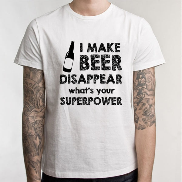 I Make Beer Disappear Novelty Tee - The Guitar Yard
