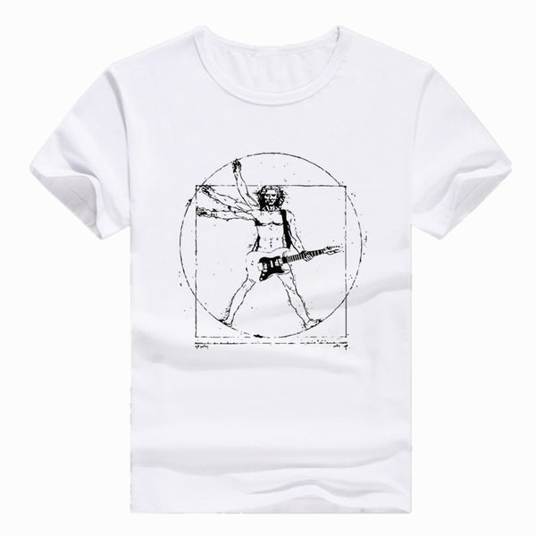 Vitruvian Man Novelty Tee - The Guitar Yard