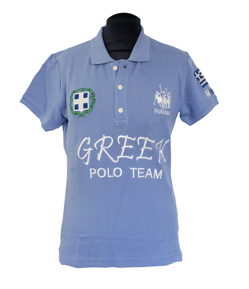 Polistas Ladies Greece Sky Blue Polo Shirt RRP £99.95 NOW £25.00
