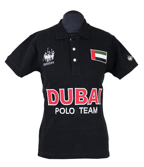 Polistas Ladies Dubai Black Polo Shirt RRP £99.95 NOW £25.00