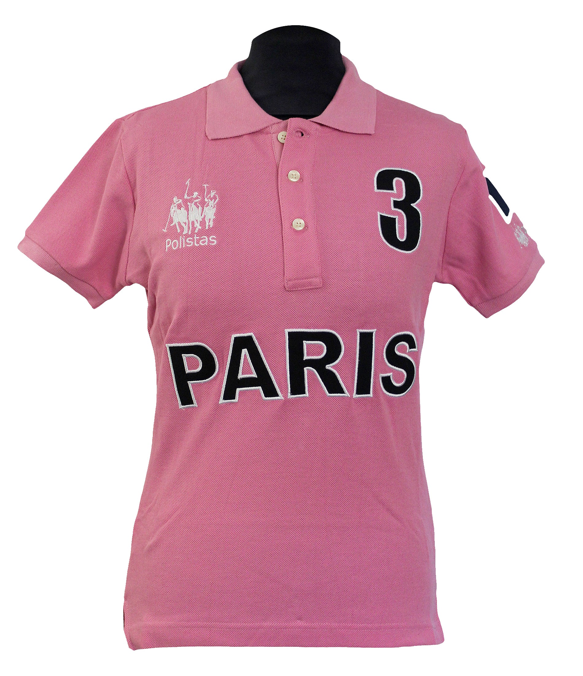 Polistas Ladies Paris Pink Polo Shirt RRP £99.95 NOW £25.00