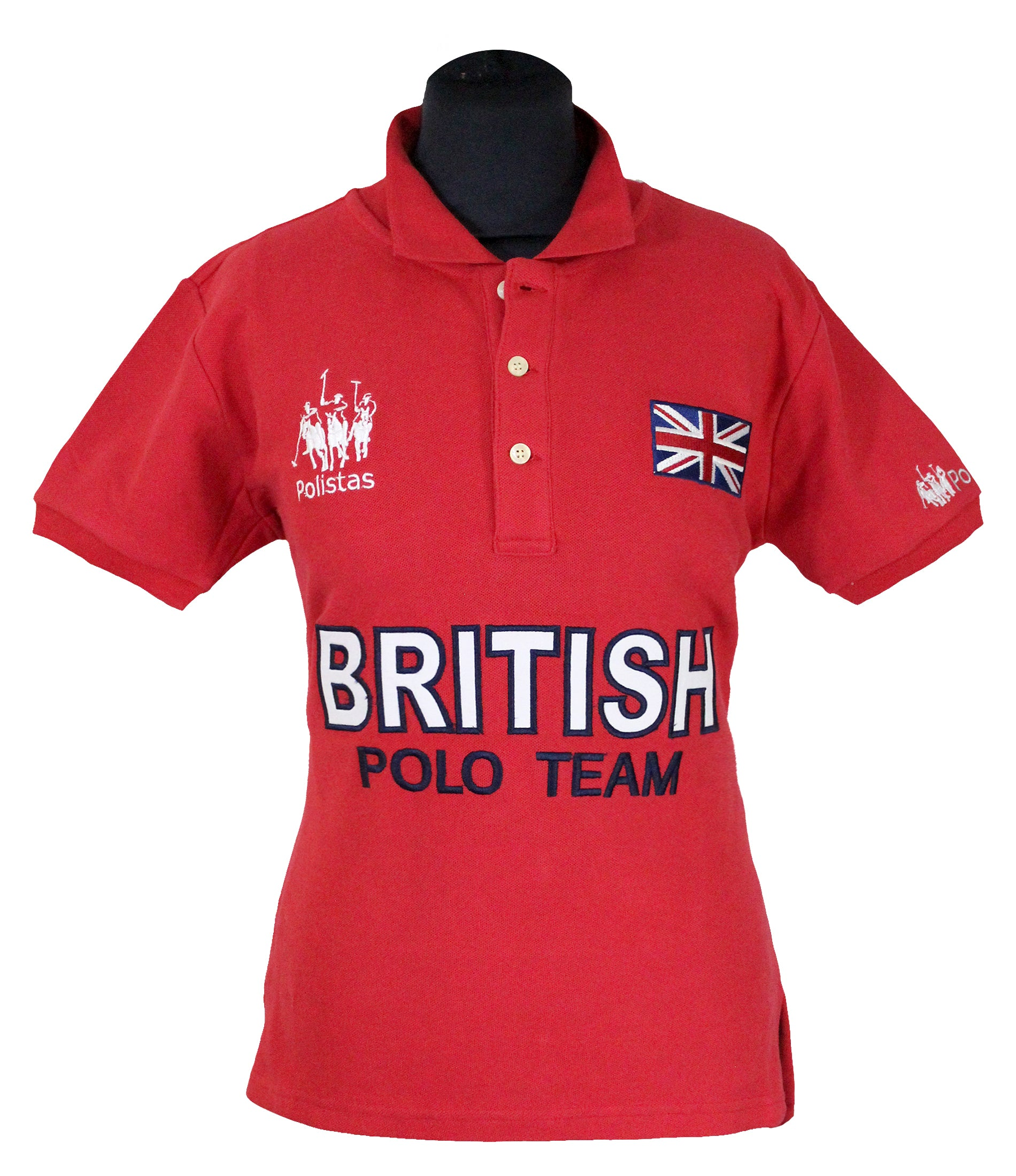 Polistas Ladies British Polo Team Red Polo Shirt RRP £99.95 NOW £25.00