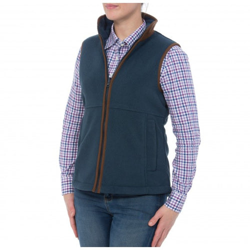 Alan Paine Aylsham Ladies Fleece Waistcoat - Blue Steel