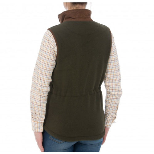 Alan Paine Aylsham Ladies Fleece Waistcoat - Green