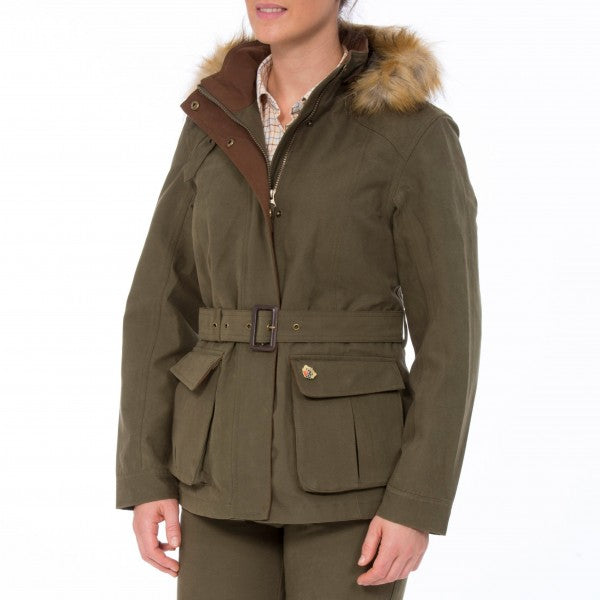 Alan Paine Berwick Ladies Waterproof Jacket - Olive