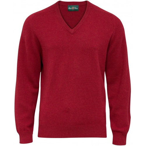 Burford Lambswool Vee Neck Pullover - Magma