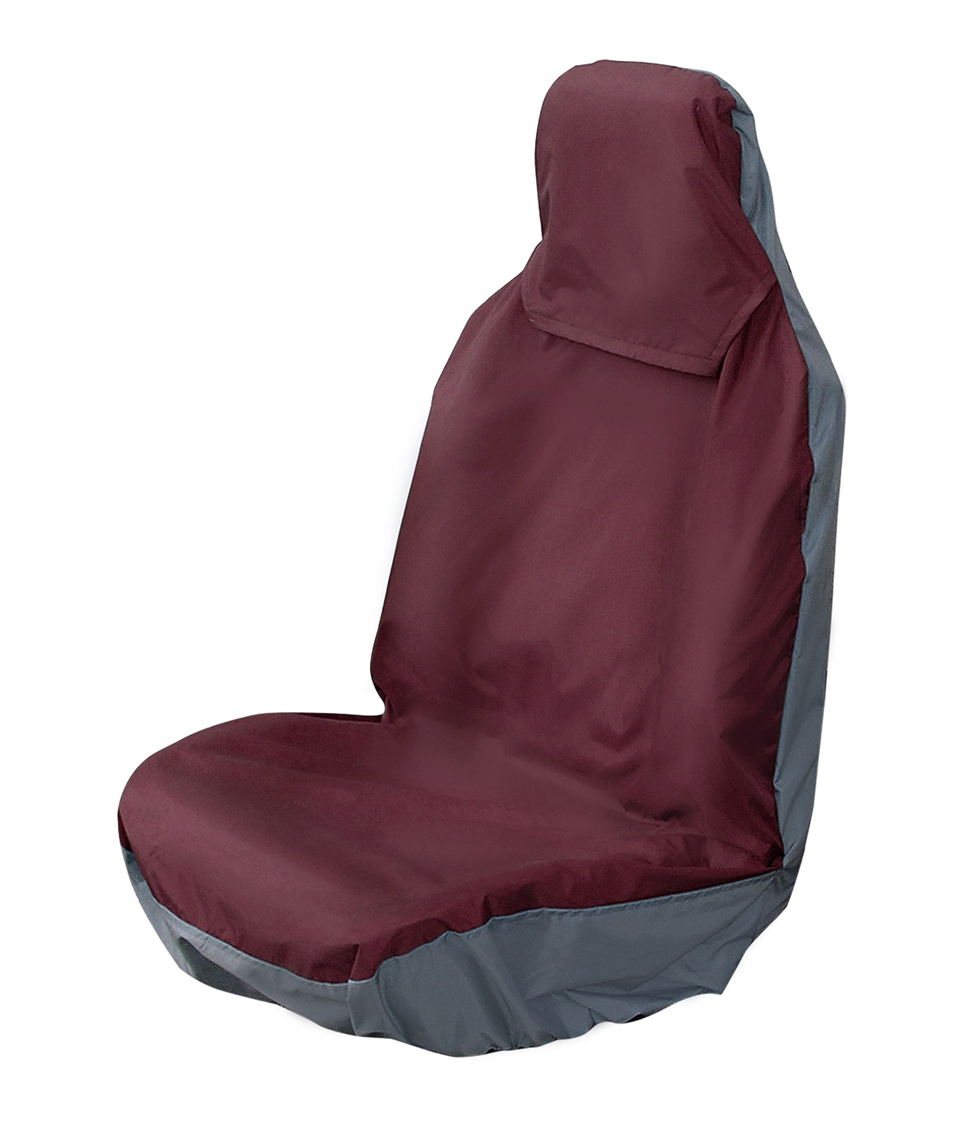 Universal Front Pair Seat Covers - COLOUR BURGUNDY