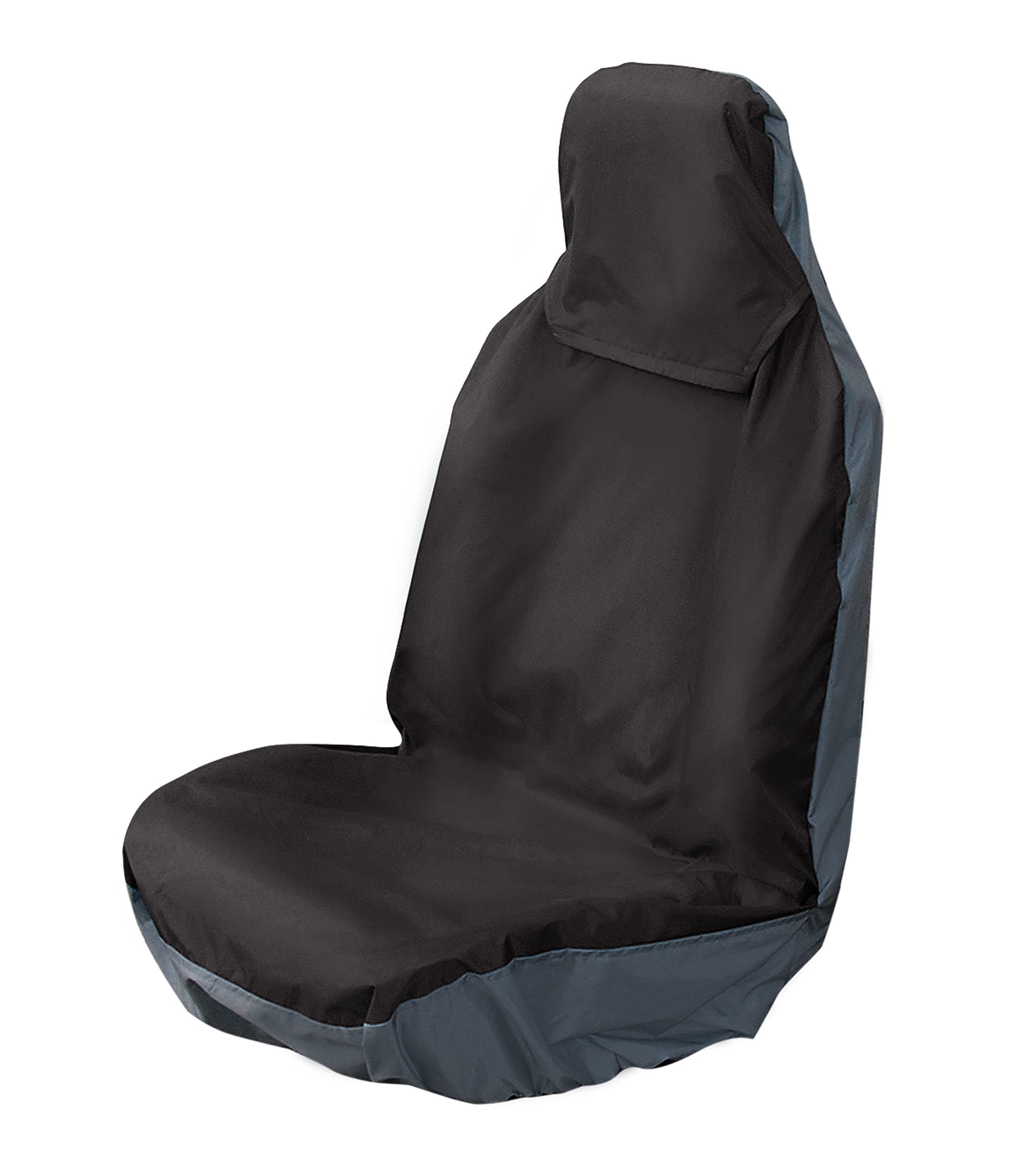 Universal Rear Seat Covers 3 Headrests with Middle Inertia Seatbelt