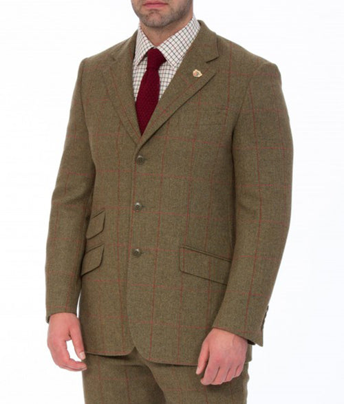 Alan Paine Combrook Tweed Blazer - Sage