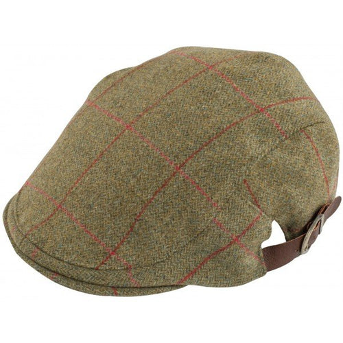Alan Paine Combrook Unisex Tweed Cap - Sage