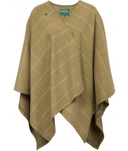 Alan Paine Compton Ladies Tweed Wrap - Meadow